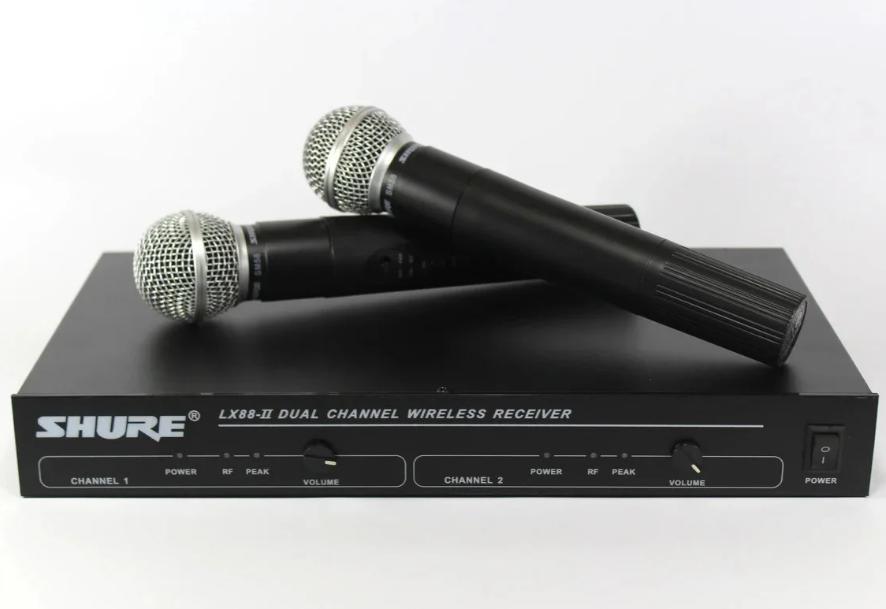 Радиосистема ShureDM LX-88 IIбаза и 2 радиомикрофона