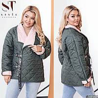 Двусторонняя куртка женская батал р.42-58   ST Style XL, фото 1