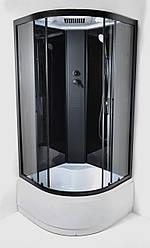 Душевой бокс Eco 95 NERO RC 90х90 глубокий поддон