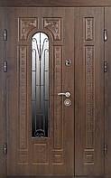 Дверь входная Министерство Дверей мдф/мдф ПК-139 V Дуб темный Vinorit 2050х1200мм левая