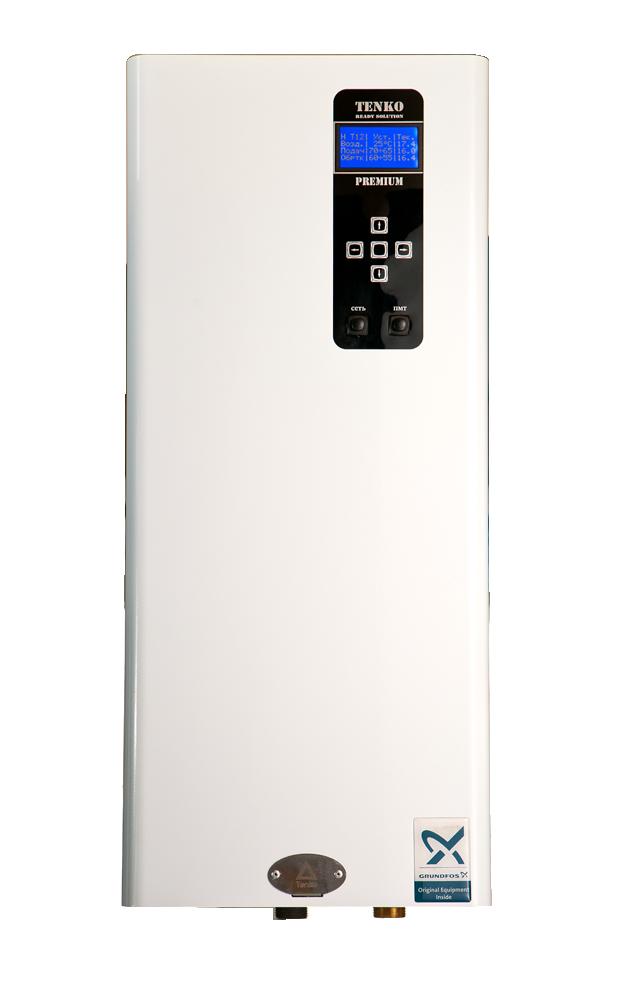 Котел 7,5 кВт 220V електричний безшумний з насосом GRUNDFOS Tenko Преміум (ПКЕ)