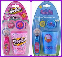 Brush Buddies, Шопкинсы и Свинка Пеппа набор для чистки зубов
