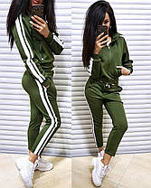 Женский спортивный костюм двойка штаны и кофта, фото 3