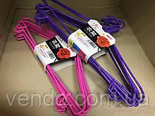 Набор детских вешалок для одежды с силиконовым покрытием 10 шт 40 см.