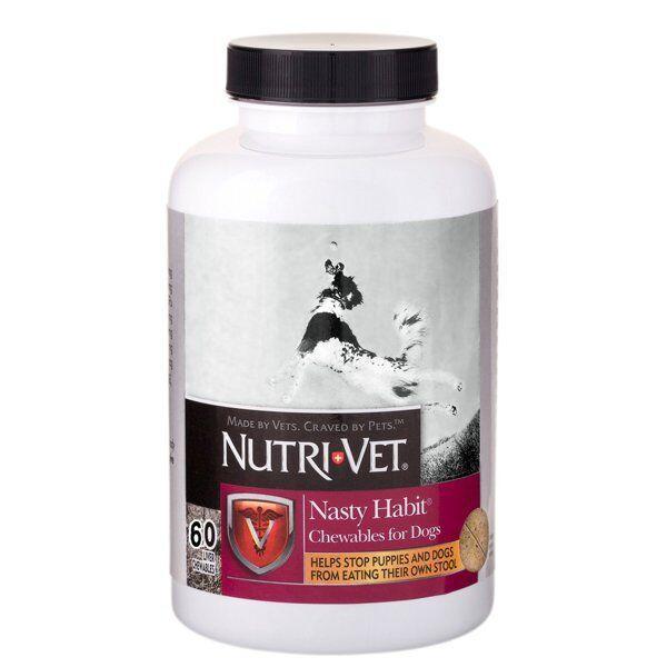 Добавка Nutri-Vet Nasty Habit от поедания экскрементов для собак и щенков, 60 шт.