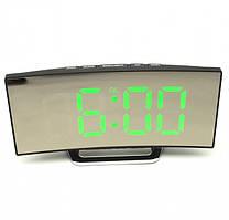 Електронні LED годинник настільні з зеленим підсвічуванням UKC 6507