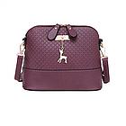Модная женская сумка Бэмби Фиолетовая, фото 3