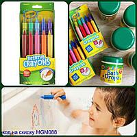 Crayola, Crayola, карандаши для ванной, для детей в возрасте от 3-х лет, 9 карандашей, + 1 бонусный карандаш