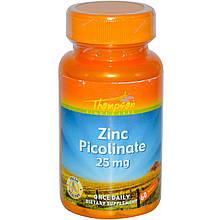 Пиколинат цинку, 25 мг, 60 Thompson таблеток