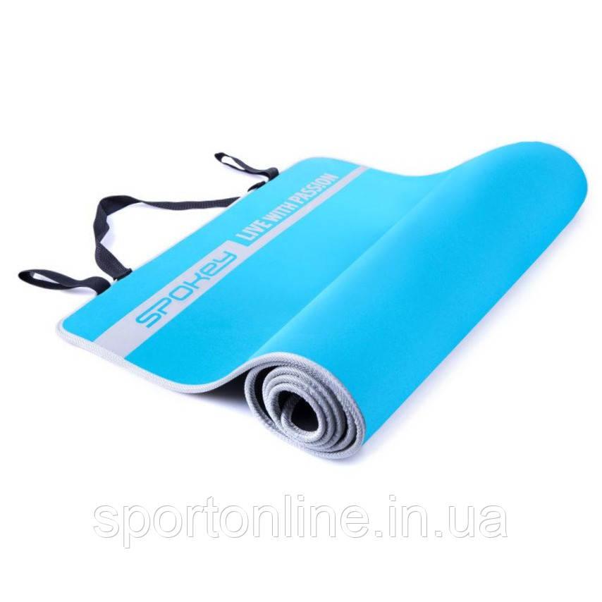 Коврик для йоги и фитнеса Spokey Flexmat V 920915, голубой