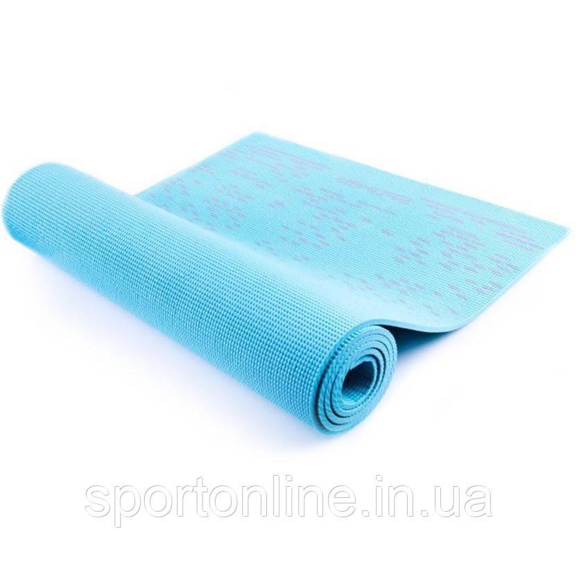 Коврик для йоги и фитнеса Spokey Lightmat II 920917, голубой