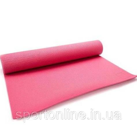 Коврик для йоги и фитнеса Meteor Yoga Mat 180x60x0,5 см, (31431) розовый