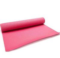 Коврик для йоги и фитнеса Meteor Yoga Mat 180x60x0,5 см, (31431) розовый, фото 1
