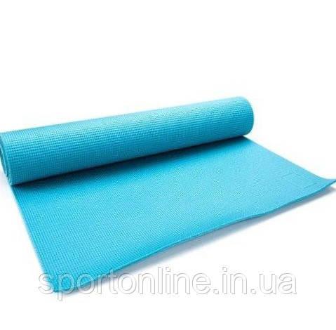 Коврик для йоги и фитнеса Meteor Yoga Mat 180x60x0,5 см, голубой