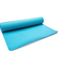 Коврик для йоги и фитнеса Meteor Yoga Mat 180x60x0,5 см, голубой, фото 1