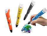 3D Ручка PEN-2 с LCD-дисплеем + Пластик в подарок!  Желтая, фото 3