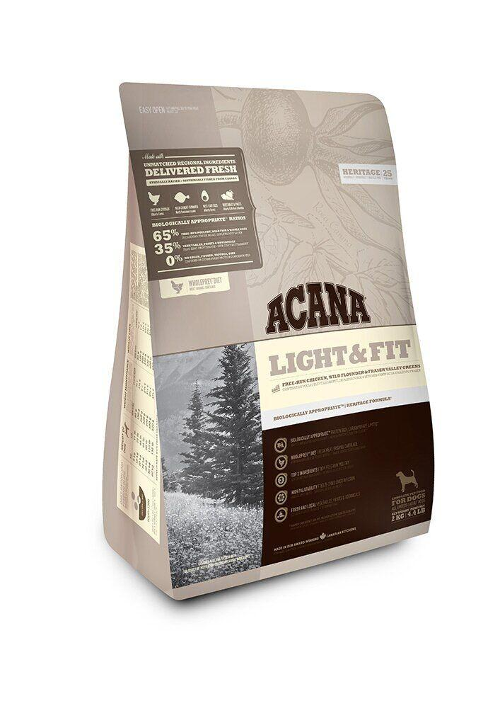 Сухой корм для собак c избыточным весом ACANA HERITAGE Light&Fit, 2 кг, Заводская упаковка