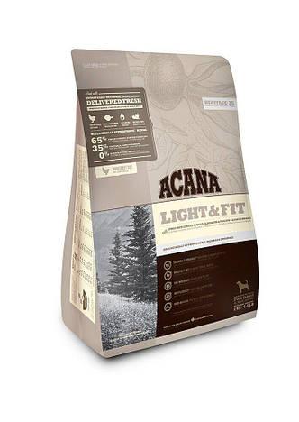 Сухой корм для собак c избыточным весом ACANA HERITAGE Light&Fit, 2 кг, Заводская упаковка, фото 2