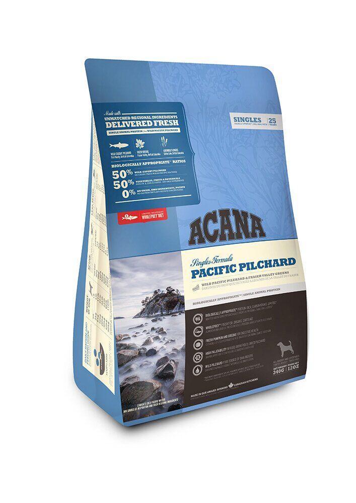 Сухой корм для чувствительных собак ACANA SINGLES Pacific Pilchard, 340 г, Заводская упаковка