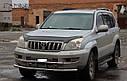 Защита переднего бампера (ус двойной) Toyota Prado Land Cruiser 120 2002-2009, фото 2