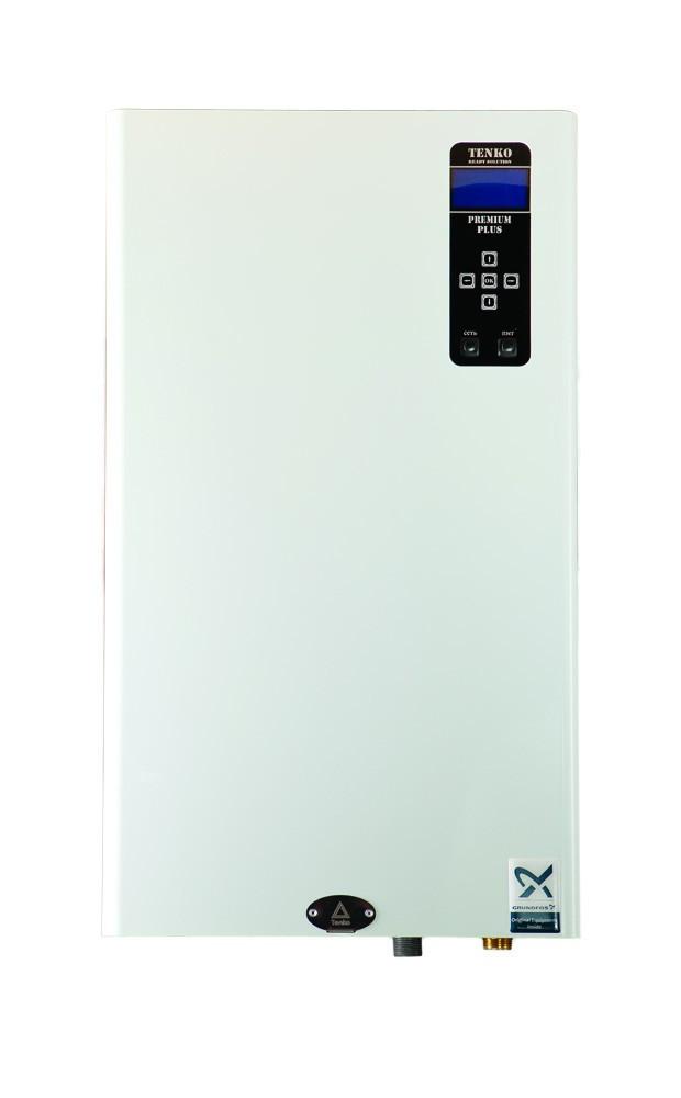 Котел 6 кВт 220V електричний безшумний з насосом + бак Tenko Преміум Плюс (ППКЕ)