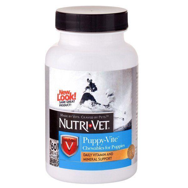 Мультивитамины Nutri-Vet Puppy-Vite для щенков до 9 месяцев, 60 шт.
