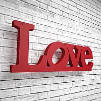 "Слово из пенополистирола ""Love"". Декоративная надпись на стену размером 1000х380х45 мм. Декор для фотозоны"