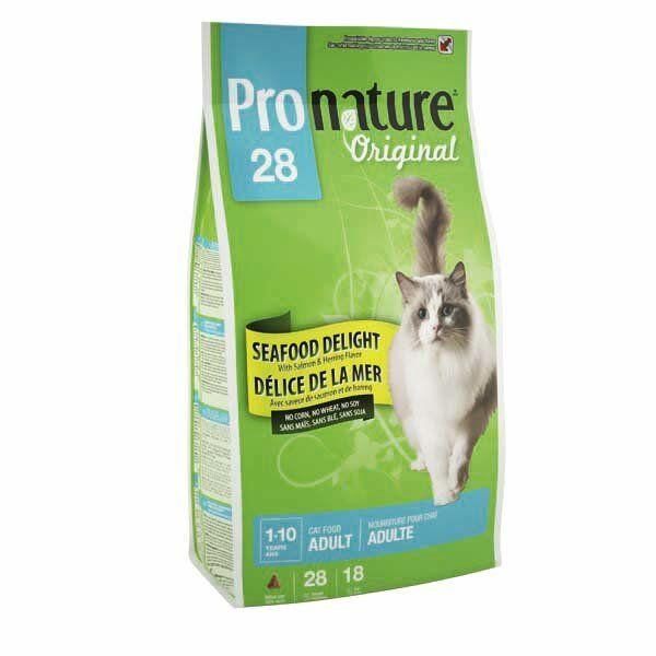 Cухой супер премиум корм с морепродуктами для взрослых котов Pronature Original SeeFood Delight, 350 г