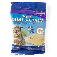 Ошейник от блох и клещей для котов SENTRY Sergeants Dual Action , 35,5 см