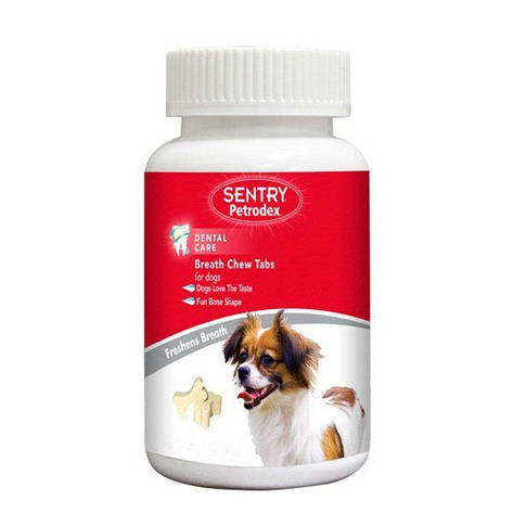 """Жвачки для собак """"Освежающее дыхание"""" SENTRY Petrodex eath Chew Tabs, 1 шт., фото 2"""