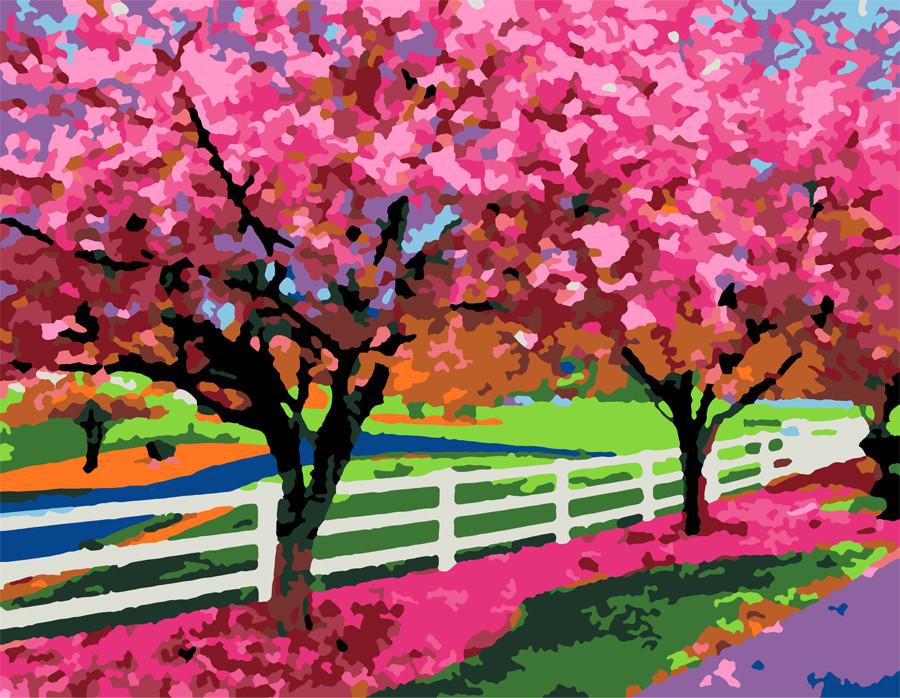 """Картина по номерам. Пейзаж, природа """"Весенний день"""" 35х45см ROSA START Бесплатная Доставка """"Justin"""""""