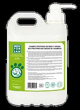 Натуральный шампунь MenForSan с протеинами шелка и маслом аргана, 5 л