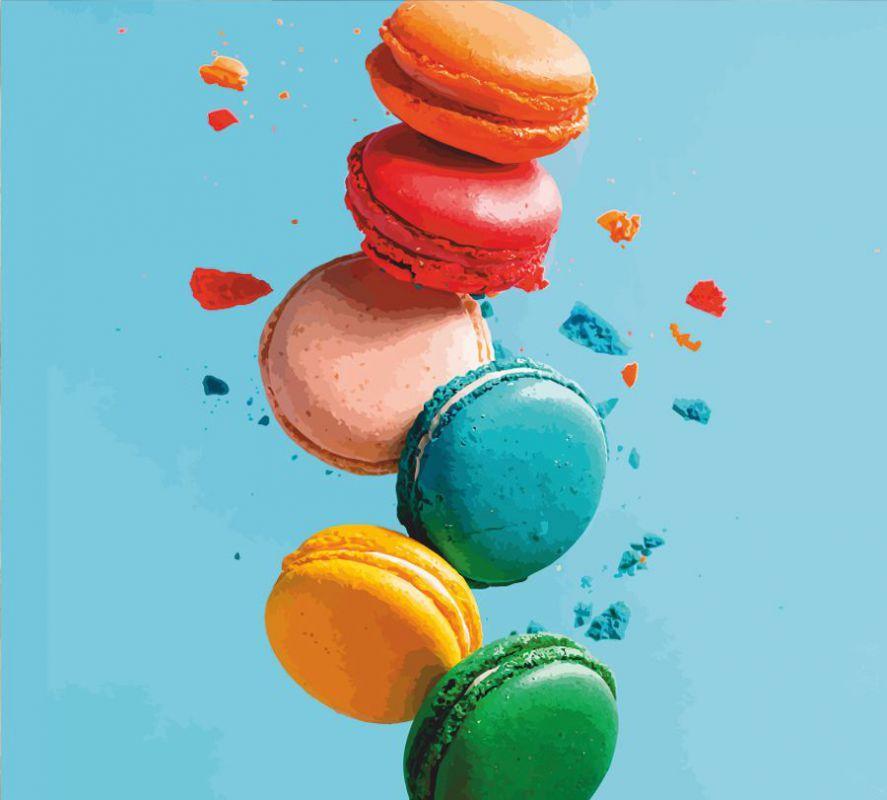 """Картина по номерам. Натюрморт """"Macarons"""" 35х45см ROSA START Бесплатная Доставка """"Justin"""""""