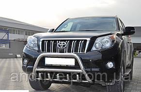 Кенгурятник с грилем (защита переднего бампера) Toyota Land Cruiser Prado 150 2009+