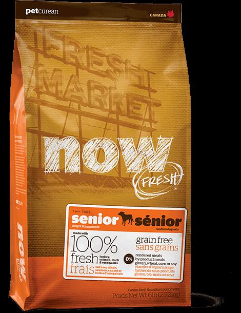 Контроль веса - беззерновой корм для Собак (NOW Fresh Senior Recipe Grain Free)