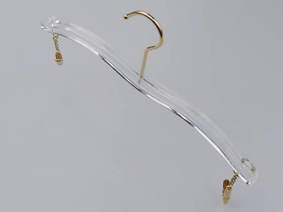 Довжина 28 див. Плічка серія Сristallo акрилові для нижньої білизни кришталево прозорі, Mainetti Group Італія, фото 2