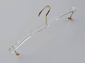 Довжина 28 див. Плічка серія Сristallo акрилові для нижньої білизни кришталево прозорі, Mainetti Group Італія, фото 3
