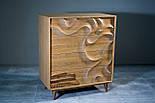 Дизайнерский арт комод из дуба Северное сияние из натурального дуба, фото 2
