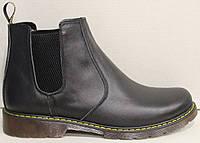 Ботинки женские кожаные черные от производителя модель НБ35Д