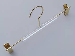 Плечики серия  Сristallo для брюк и юбок акриловые кристально прозрачные, длина 30 см, Mainetti Group Италия, фото 2