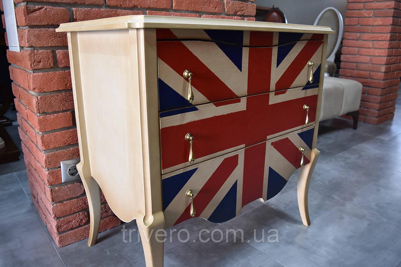 Дизайнерский британский комод из массива ясеня
