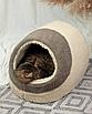 Домик лежанка для котов собак теплый меховой кремовый бежевый, фото 7