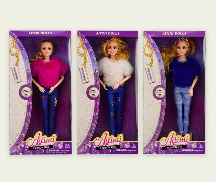 Кукла типа Барби КР152 в зимней одежде, шарнирная