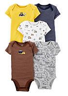 Набор бодиков боди картерс Carters  для мальчика  с коротким рукавом на   12 и 18   месяцев