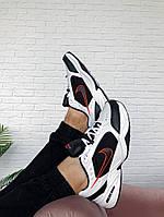 Кроссовки мужские Nike Air Monarch (Найк Аир Монарх), белые с черным, код KS-1610