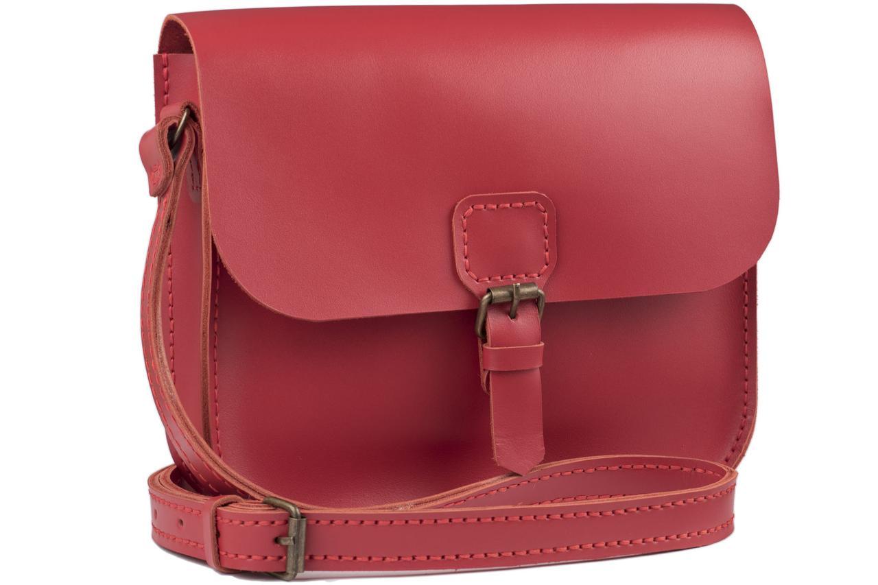 Женская кожаная сумка Handy красная