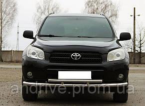 Защита переднего бампера (ус двойной длинный) Toyota RAV4 2005-2012
