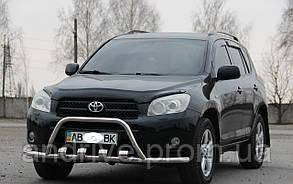 Кенгурятник SHARK с усами (защита переднего бампера) Toyota RAV4 2005-2012