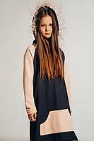 Дизайнерское платье-туника для девочки от ANDRE TAN. Размеры: 122-128, 134-140