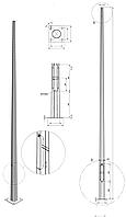 Опора восьмигранная оцинкованная - 6ASO 60/156 - F(3)
